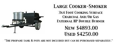 Large Charcoal and Propane Hog Cooker