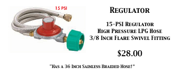 High Pressure Regulator 15 PSI