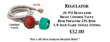 High Pressure Regulator 20 PSI