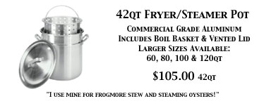 Large Fry Steam Boil Pot